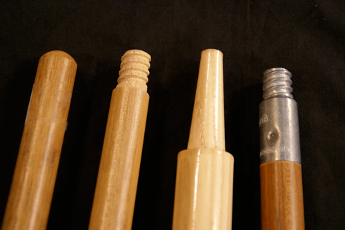 Four Mope and Broom Handles with Custom Ends