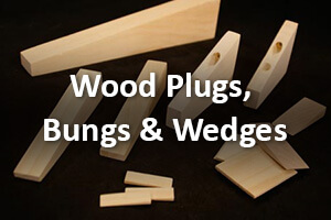 Wooden Plugs, Bungs and Wedges